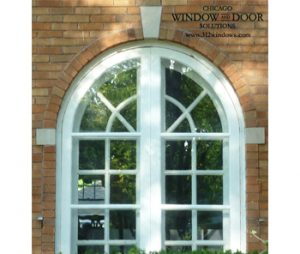 Arch top wood storm window