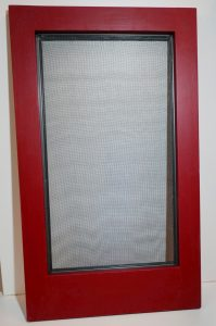 Wood storm window-exterior view