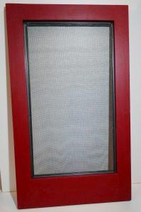 Wood storm window-exterior view