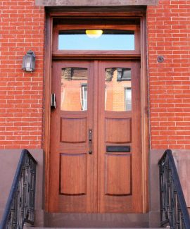 Wood exterior entry door