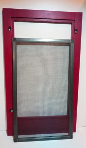 Combination wood storm window with screen panel