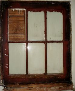 Historic wood window -before