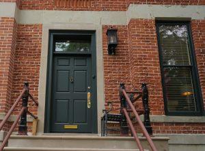 Complete front entry door