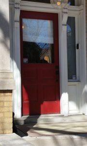 Old entry door